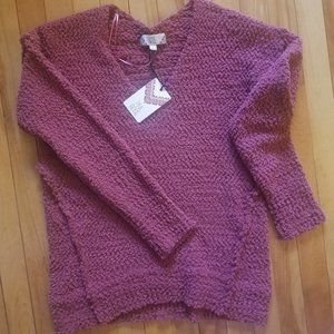 Pink Rose  Comfortable Sweater